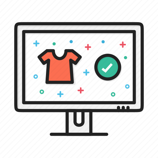 accept, buy, commerce, ecommerce, shopping, tick, tshirt icon