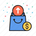 arrow, commerce, ecommerce, money, shopping, up icon