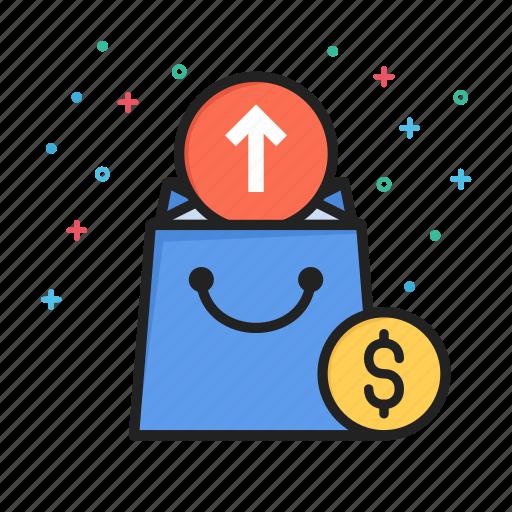 arrow, commerce, ecommerce, money, shopping, up icon