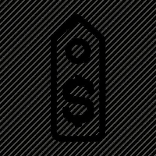 dollar, label, price, tag icon
