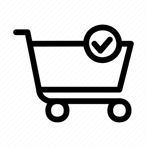 add, approve, cart, shopping icon