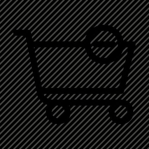 basket, cart, delete, minus, shopping icon