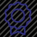 badge, ribbon, label, award