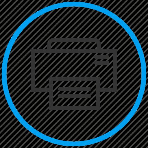 iot, laser printer, output device, print, printer, printing machine, technology icon