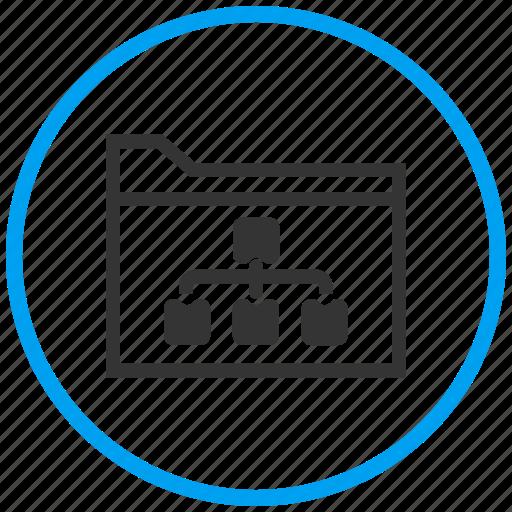 architecture, block diagram, data flow diagram, inheritance, network, schema, structure icon
