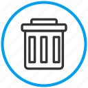 basket, delete, garbage, recycle bin, remove, trash, waste icon