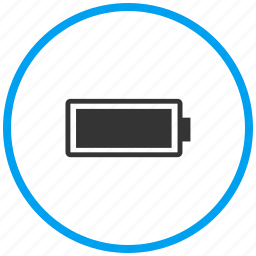 battery full, battery level, charged, charging, mobile battery icon