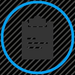 copy, document, exam pad, file, notepad, paste, write icon