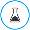 beaker, experiment, flask, glass beaker, laboratory, solution, test icon