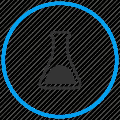 beaker, experiment, flask, glass beaker, laboratory, solution, test icon
