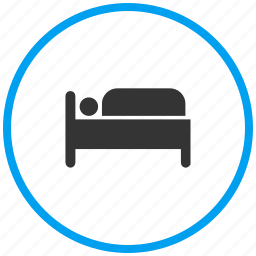 bed, bedroom, cot, furniture, hotel, sleep icon