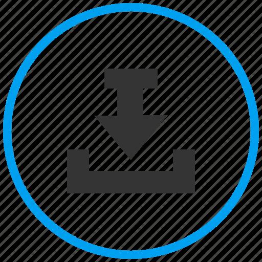 download file, downloads, inbox, local storage, save, storage icon