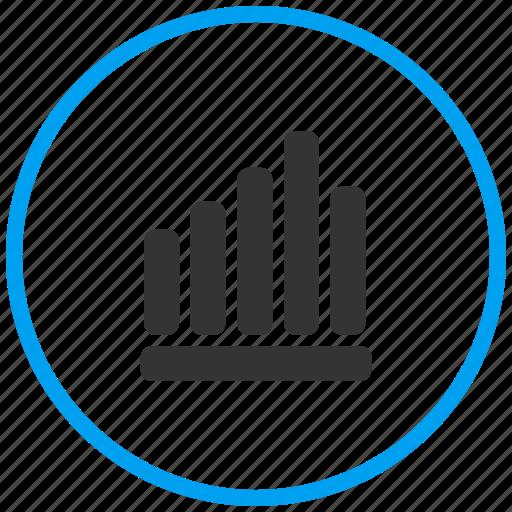 analytics, bar chart, bar graph, growth, increase, inflation, statistics icon