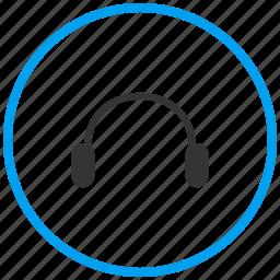 audio, electronics, head phones, headset, helpdesk, music, sound icon