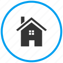 building, cottage, home, home button, homepage, property icon