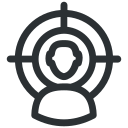 business, businessman, marketing, target, target audience, target user, user icon icon