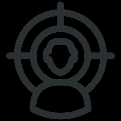 business, businessman, marketing, target, target audience, target user, user icon icon