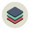colored, round, undertaking, plan, app, layer, project icon