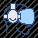 app, e, f, fr, helmet, technology, vr icon
