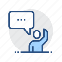 app, communicate, converse, speak, talk, technology icon
