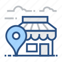 app, disk, locator, storage, stored, storing, technology icon