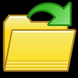 file, folder, open icon