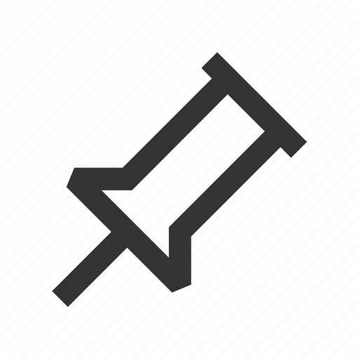 pin, post, pushpin, unpin icon