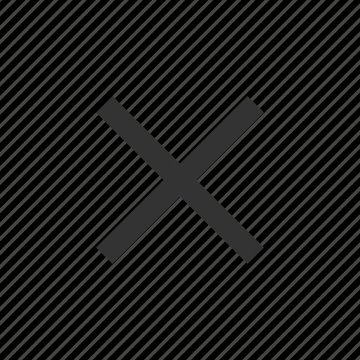 cancel, close, cross, remove icon