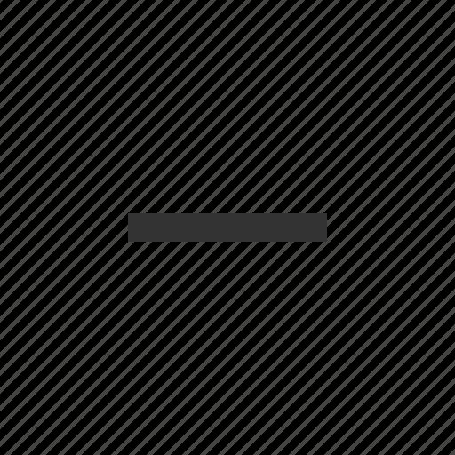 delete, less, minus, remove icon