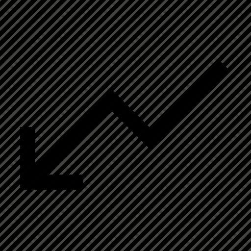 chart, decrease, down, graph, loss icon
