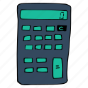 calculate, calculator, device, education, math, school, work icon