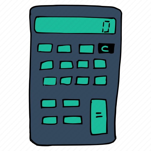 calculate, calculator, device, education, math, school, work icon