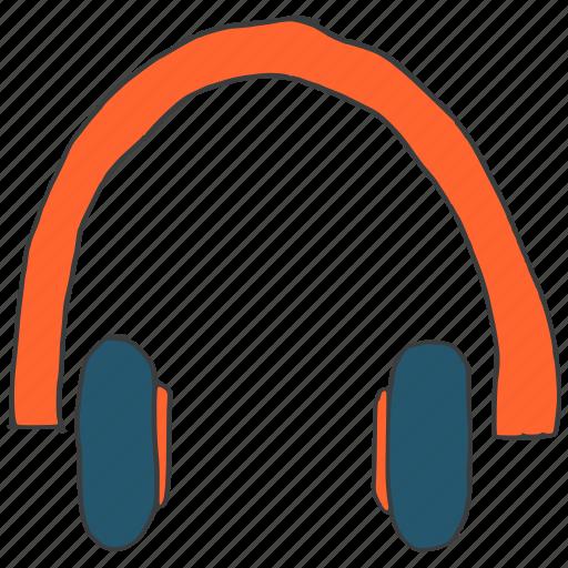 audio, device, earphones, headphones, headset, multimedia, music icon