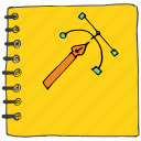 art, book, diary, drawing, notes, sketch, stationery icon