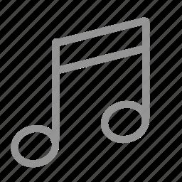 audio, music, note, sound icon