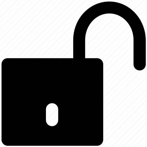 padlock, protection, security sign, unlock, unlock sign icon
