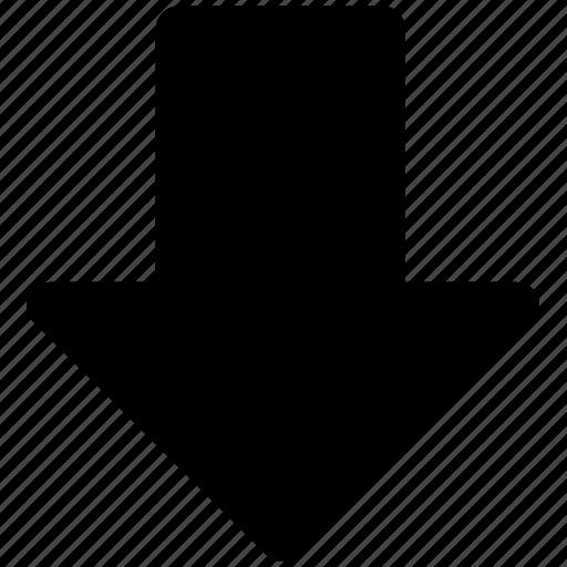 arrow, down arrow, download, download button, receive arrow, storage icon