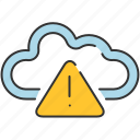 alert, cloud, communication, share, storage, warning icon