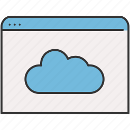 browser, cloud, communication, internet, window icon