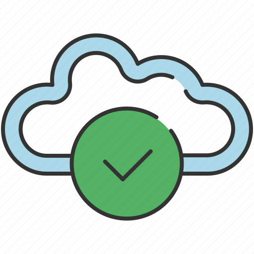 cloud, communication, confirm, download, save, share, upload icon