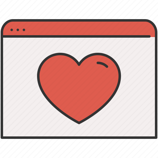 browser, favourite, guardar, heart, internet, save, window icon