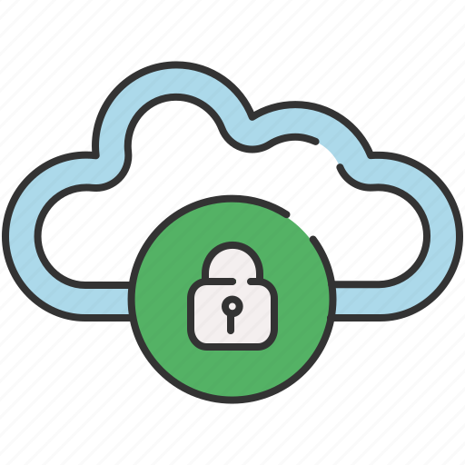 cloud, communication, lock, privacy, safety icon
