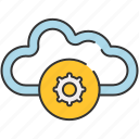 cloud, communication, internet, preferences, settings, sharing, storage icon