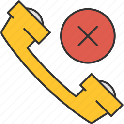 cancel, communication, contact, delete, number, phone icon