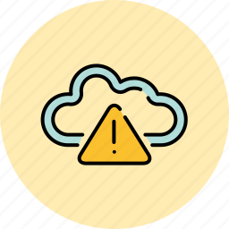 alert, cloud, communication, guardar, internet, save, share, warning icon