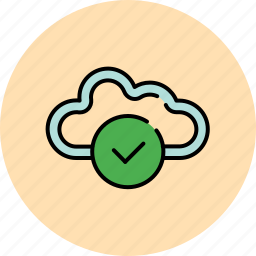 approve, cloud, communication, complete, confirm, save, share icon