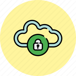 cloud, communication, guardar, lock, privacy, safety, save, share icon