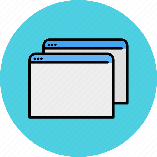 browser, communication, copy, duplicate, internet, multiple, windows icon