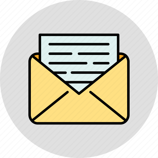 communication, email, envelope, message, open, read icon