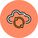 arrow, cloud, communication, guardar, internet, refresh, save, share icon